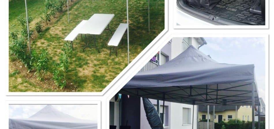 Faltpavillon / Zelt in Grau mieten